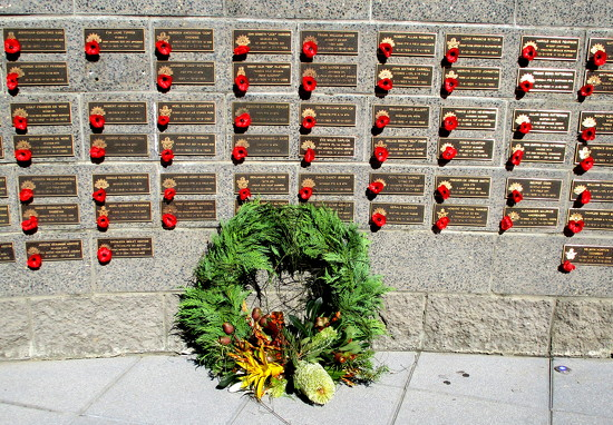 Nambour Wall of Rememberance..  We WILL  remember them by 777margo