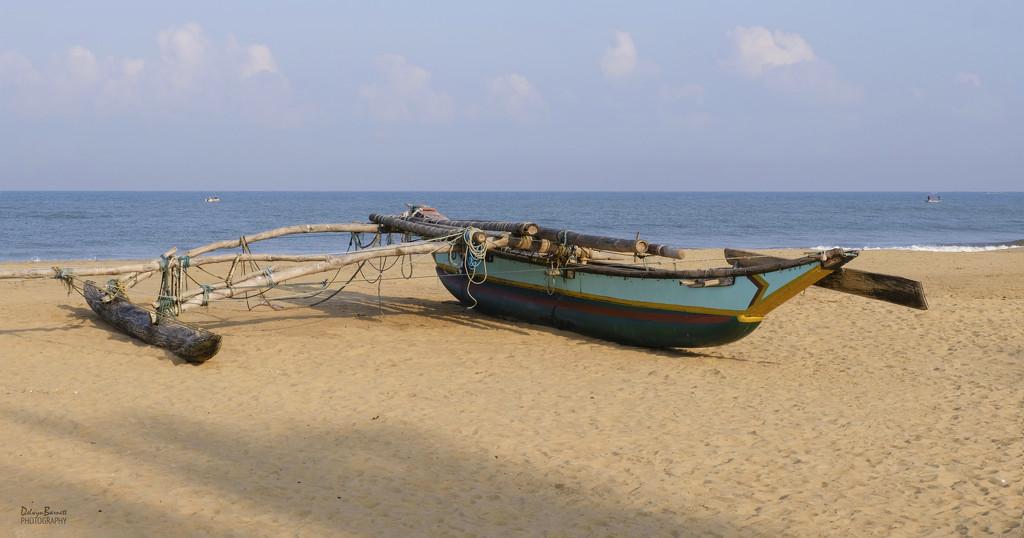 Boat at Negombo by dkbarnett