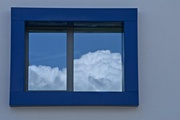 30th Apr 2018 - window and clouds
