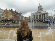 28th Apr 2018 - Amy looking across to Nottingham town hall.