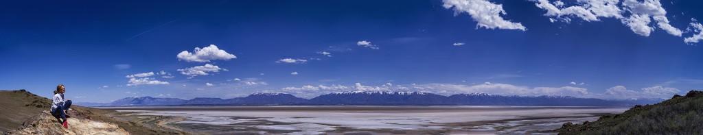 Mrs. D. on the Great Salt Lake by domenicododaro