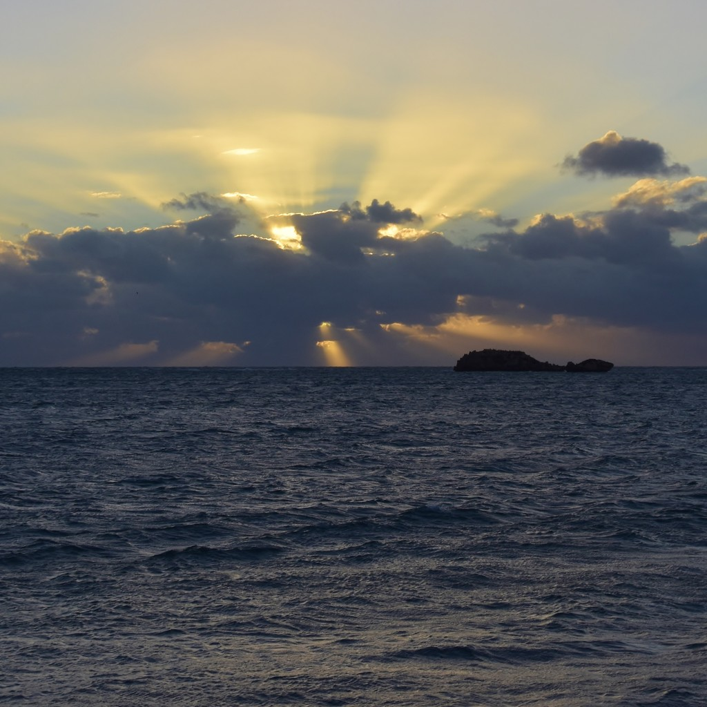 Clouds, Rays and Ocean_DSC7779 by merrelyn