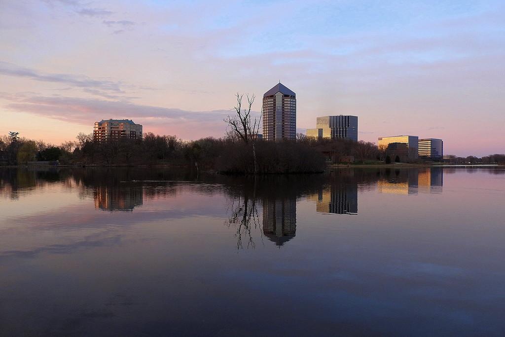 Half & half city reflection by homeschoolmom