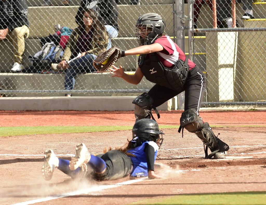 Softball - safe at home by jeffjones