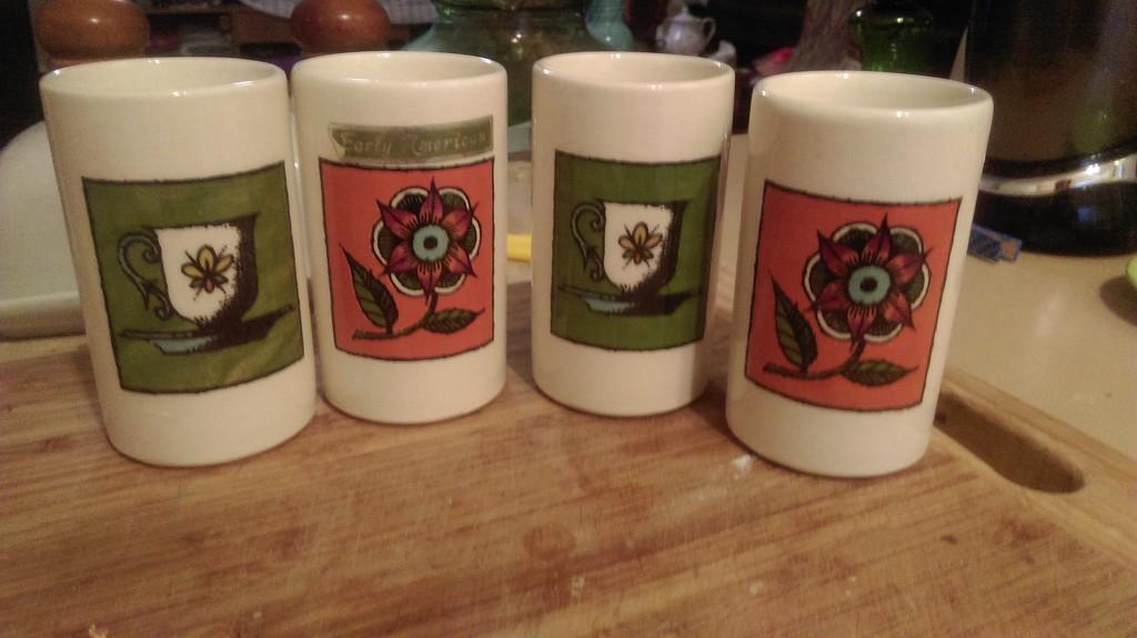 Four Little Mugs by mozette