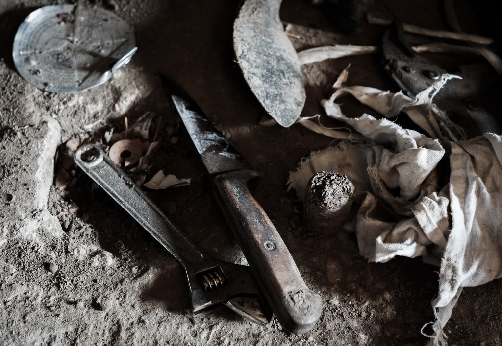 Paimpont 2018: Day 103 - Discarded tools... and stuff. by vignouse