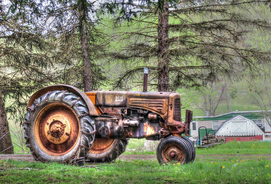 Rusty tractor by mittens