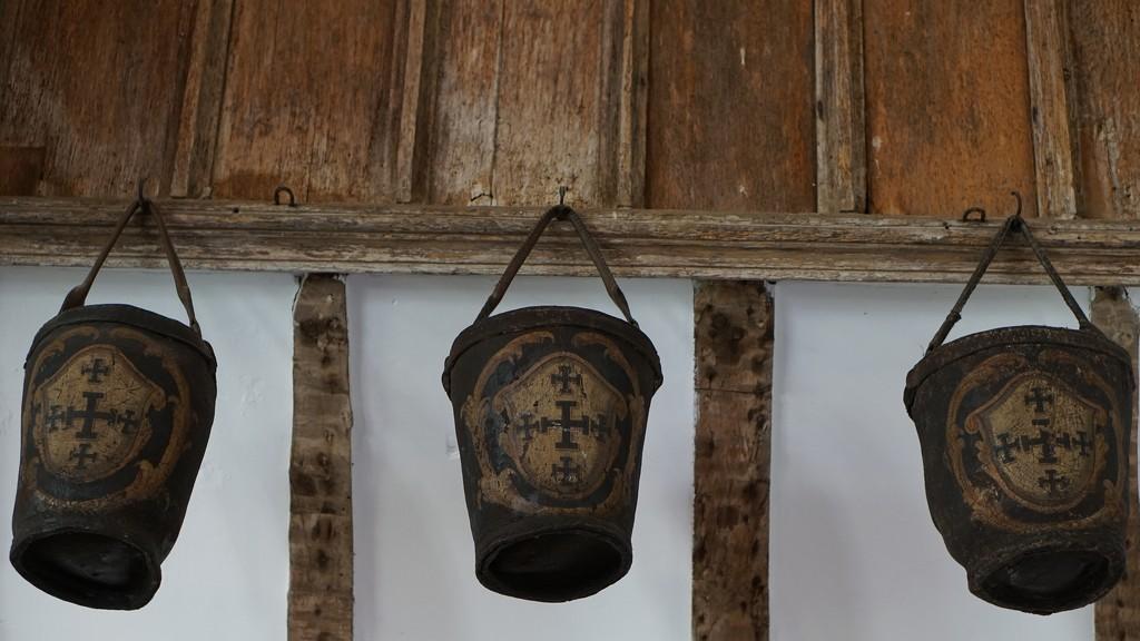 ancient fire buckets by quietpurplehaze