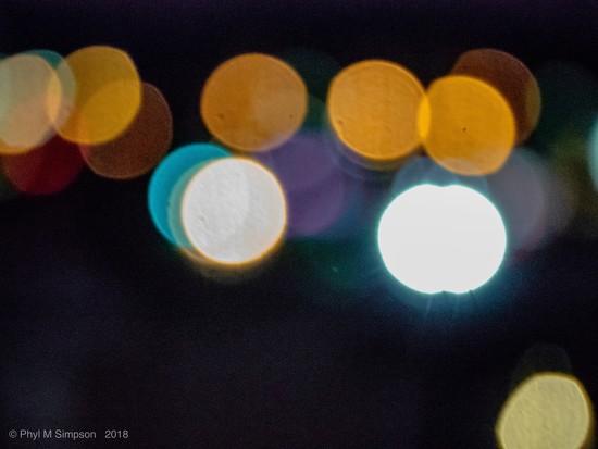 Redding Night Lights Carnival Bokeh by elatedpixie