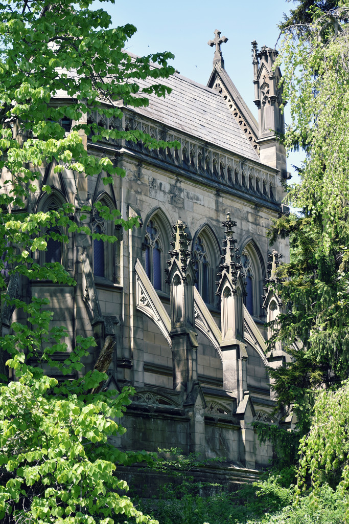Gothic Dexter's Monument and it's Famous Flying Buttresses by alophoto