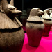 Egyptian Canopic Jars used to store human organs