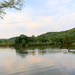 Calm lake and a boat