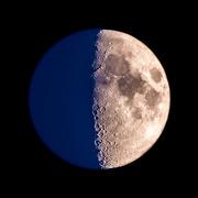 22nd May 2018 - Half and Half moon