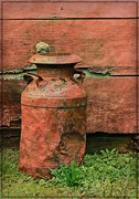 19th May 2018 - Red Milk Can by the Barn