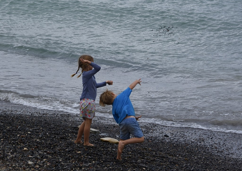 Picking Up Pebbles And Throwing Them Into The Sea_DSC9634 by merrelyn
