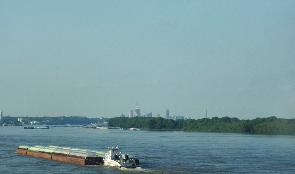 Traffic on the Mississippi River by homeschoolmom