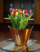 28th May 2018 - tulips in a copper vase...