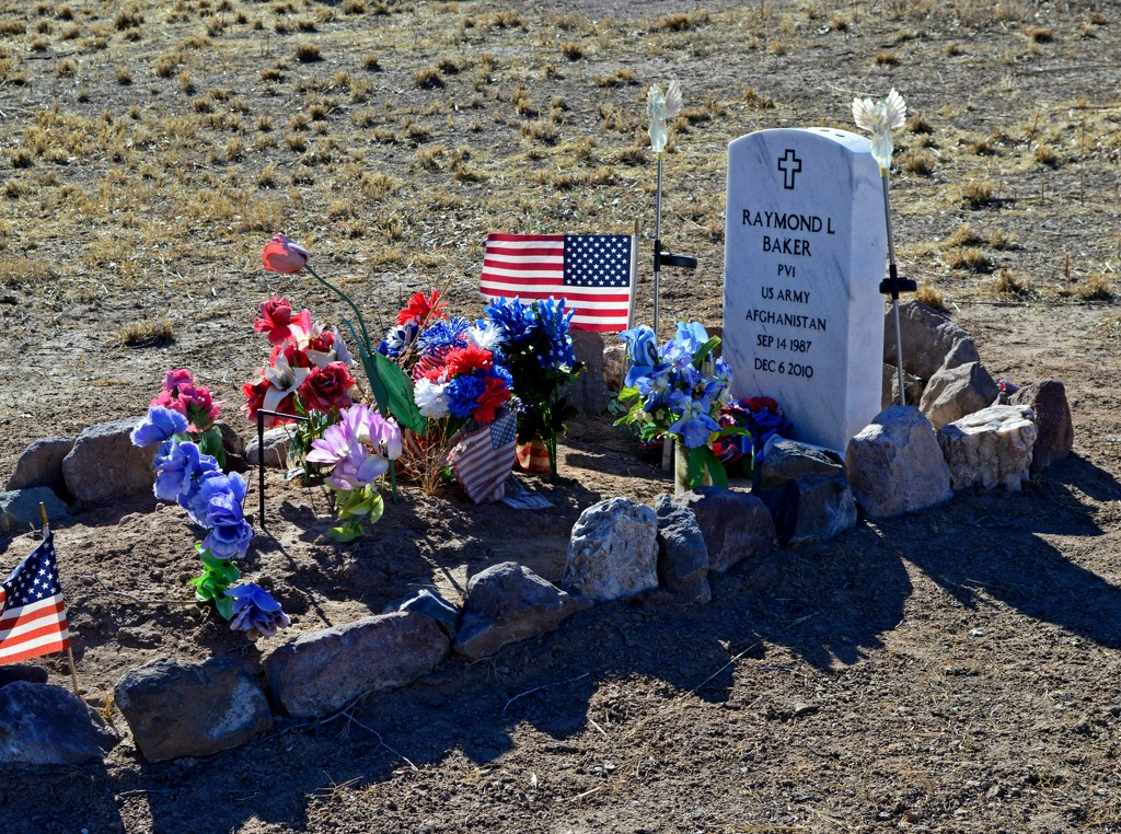 Grave in San Acacia, New Mexico, USA, population 87 by janeandcharlie