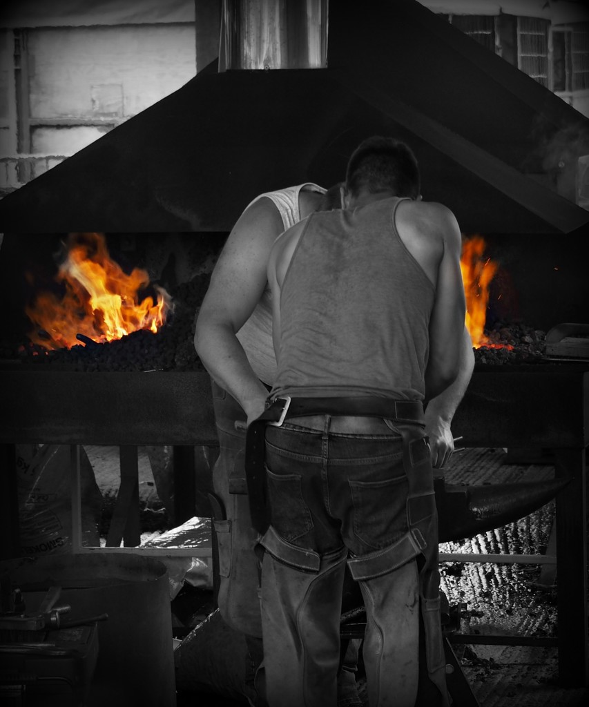 The blacksmith at work. by janemartin