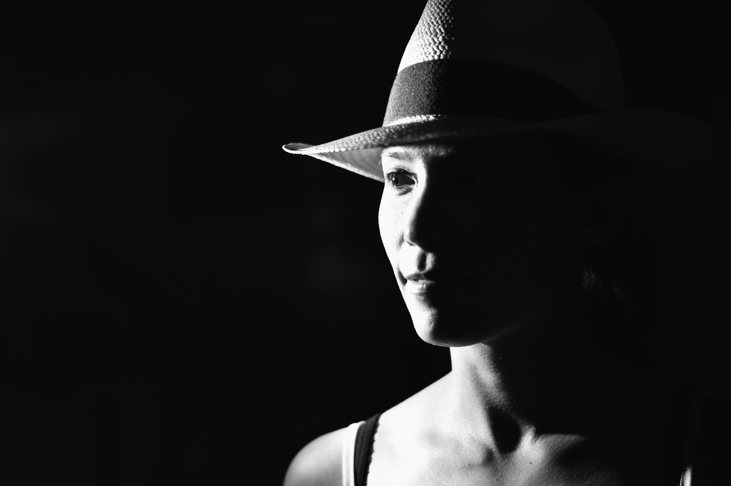 Girl with a hat by caterina
