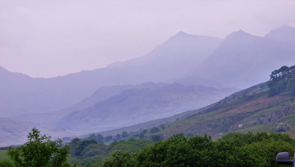 The mountain mist around Snowdon  by beryl