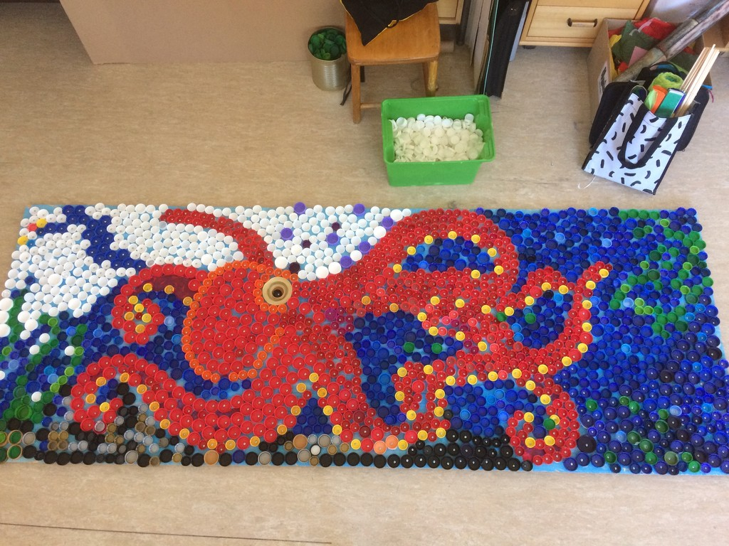 Bottle cap art by huvesaker
