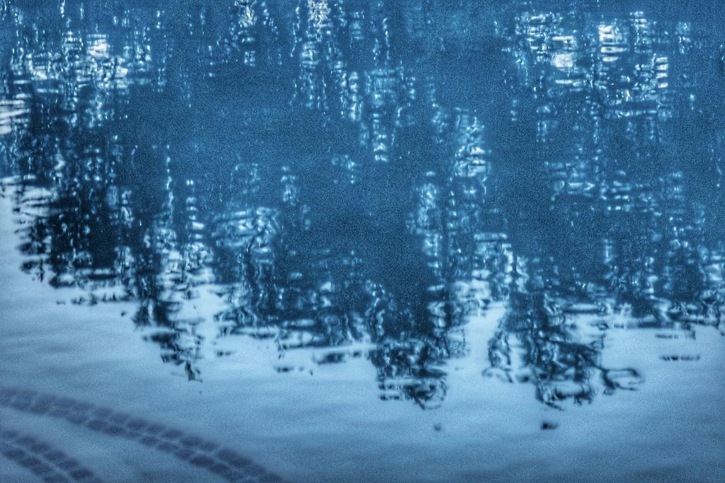 Pool reflections by louannwarren