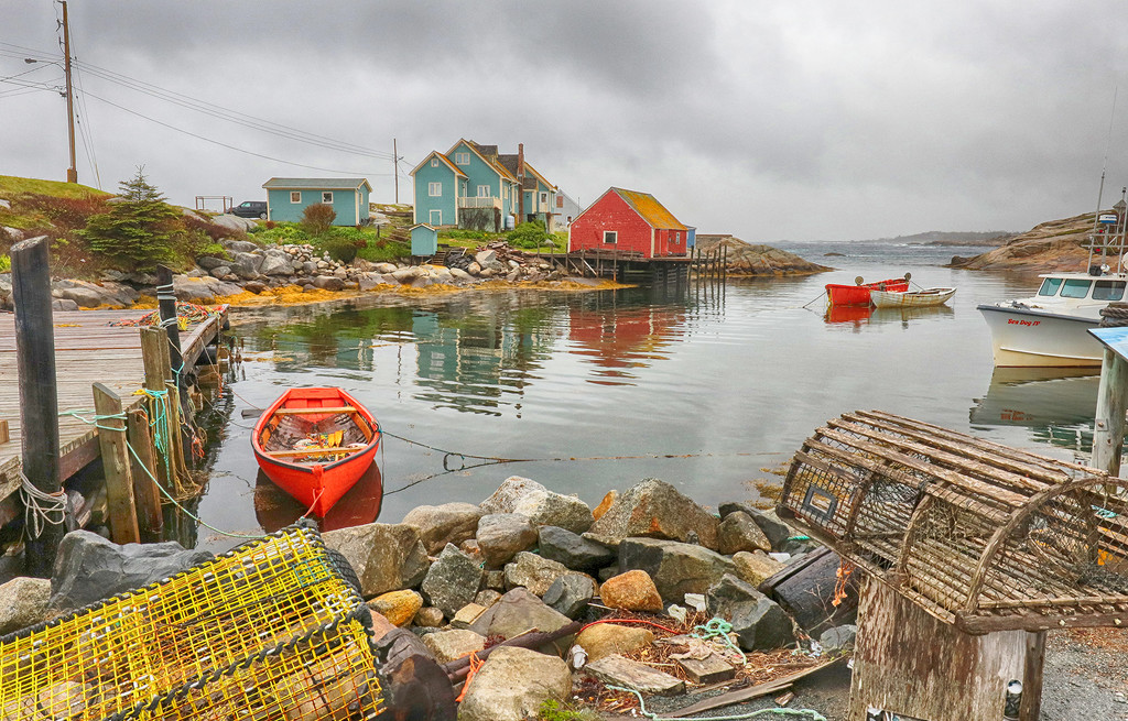 Peggys Cove Lobster Traps by pdulis