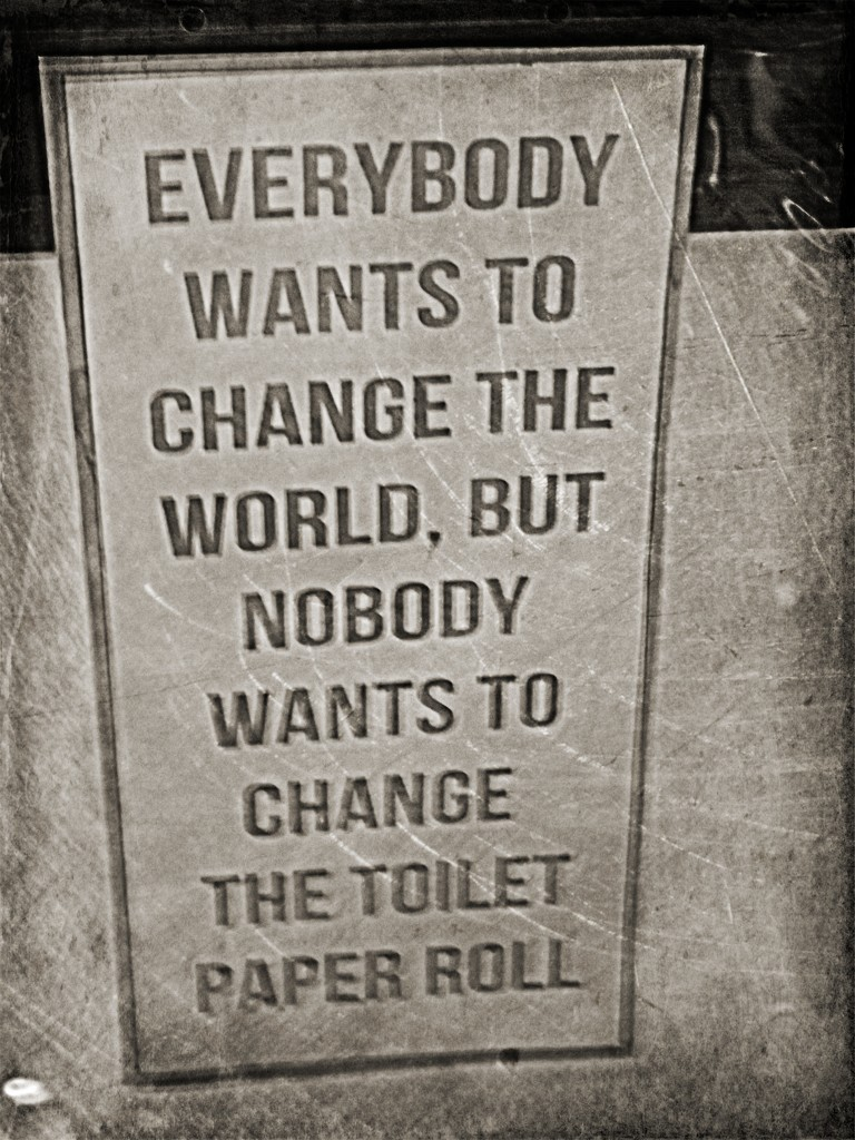 Everyone wants to change the world.... by ajisaac