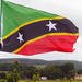 The flag of St Kitts and Nevis