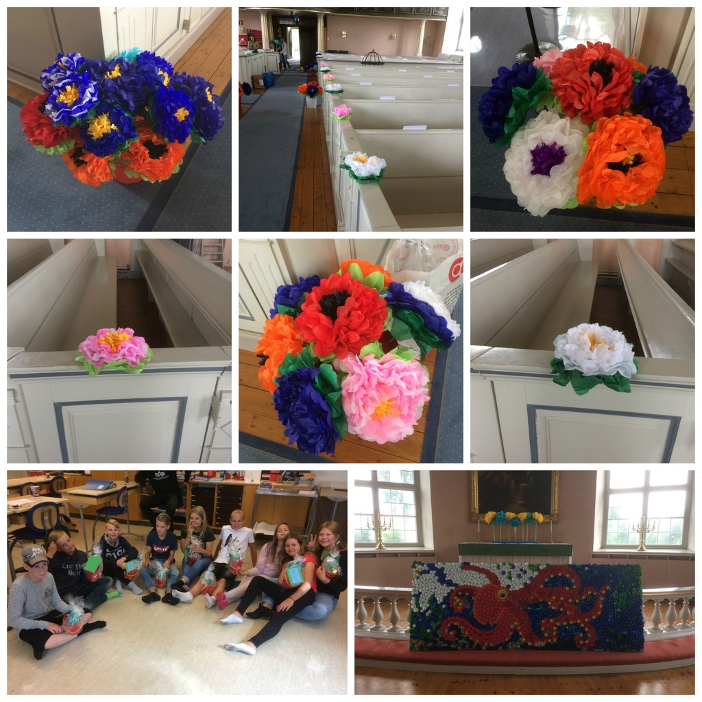 Church flowers and year 6 by huvesaker
