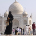 Lady in Burkha at the Taj Mahal
