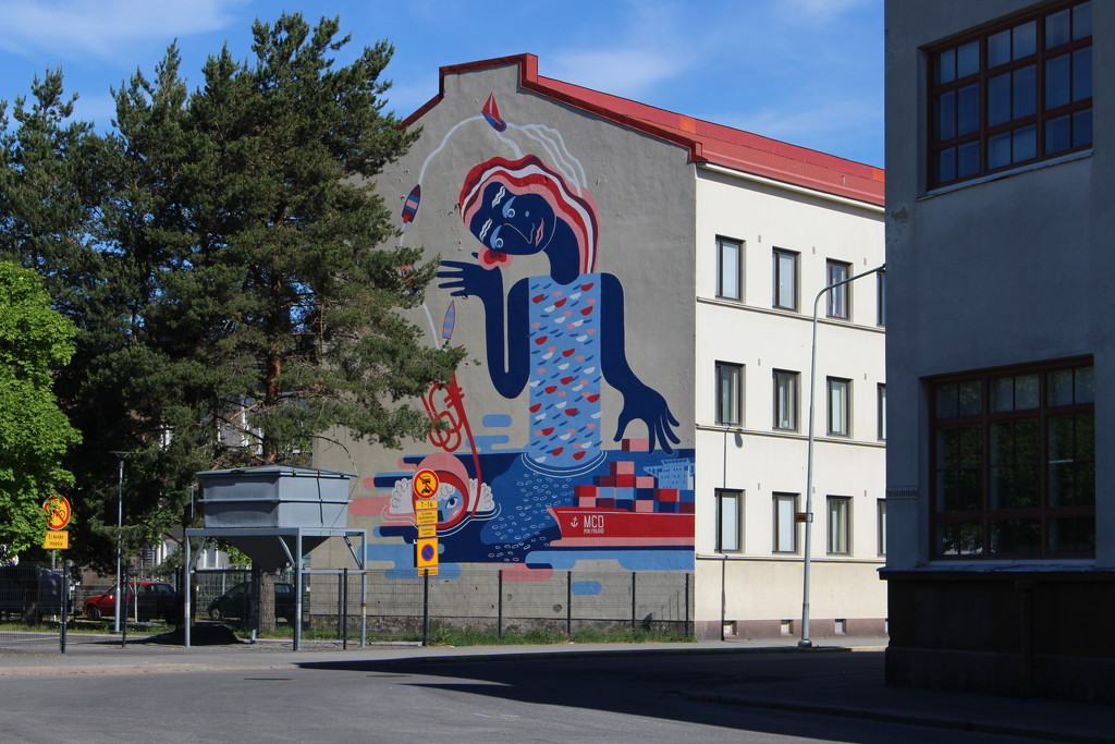 Mural in Pori, Finland by annelis