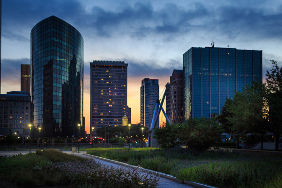 Downtown, at Sunset by batfish