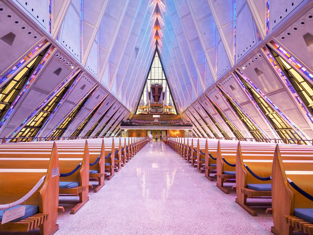 Air Force Academy Chapel by rosiekerr