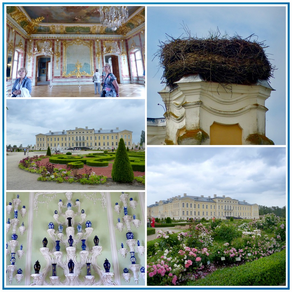 Rundale Palace with Stork's Nest by foxes37