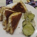 Tuna melt and pickles