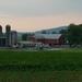 Evening farm