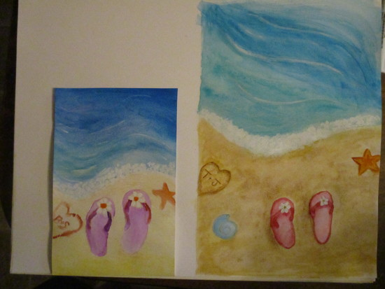 Painting with a Friend by julie