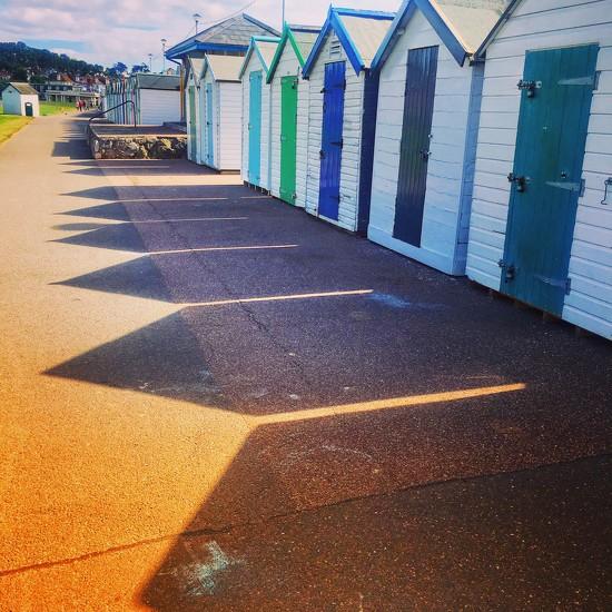 Beach Hut Shadows by cookingkaren