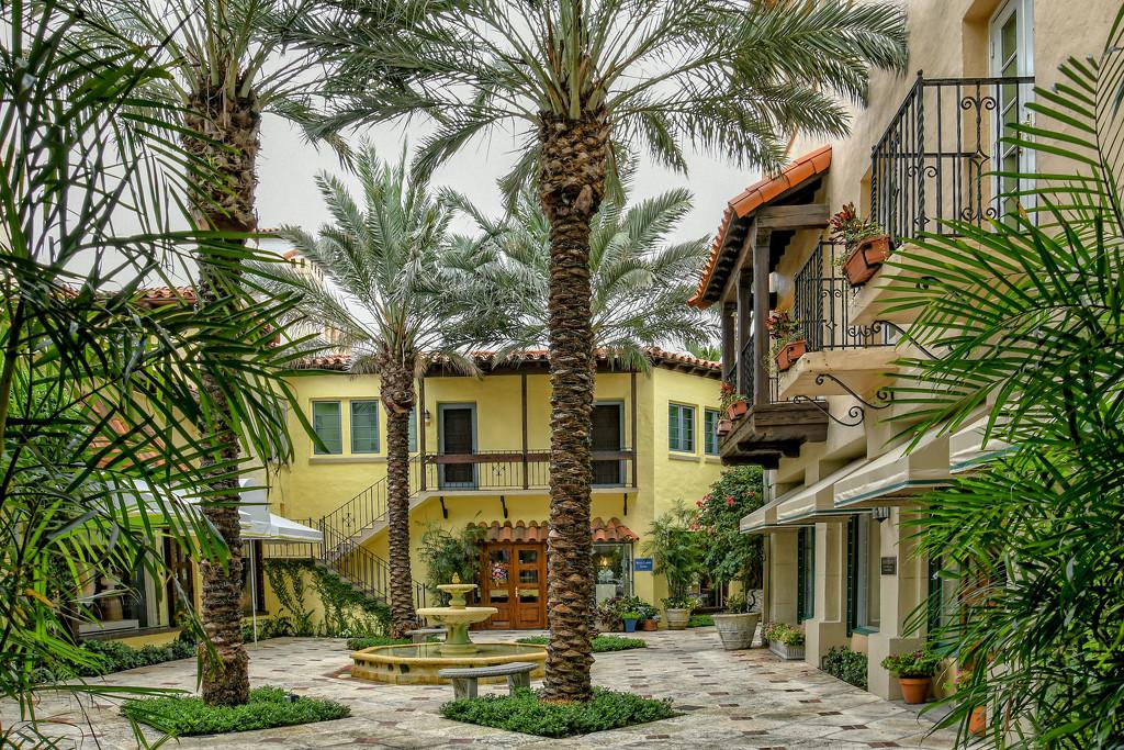 Worth Avenue courtyard by danette