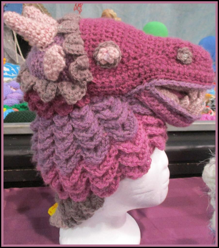 Fancy Hat  for a brave lady!!  KNITFEST  Maleny by 777margo