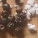 peppercorns and flakey sea salt