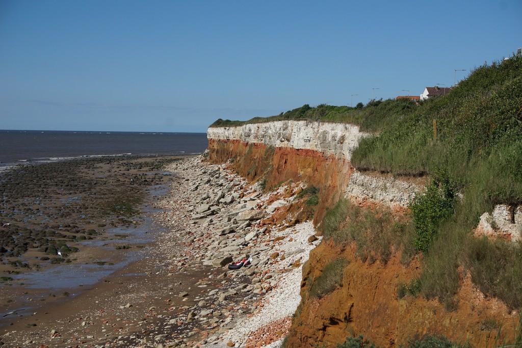 Old Hunstanton - the cliffs by quietpurplehaze