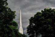 4th Jul 2018 - Steeple with rain clouds