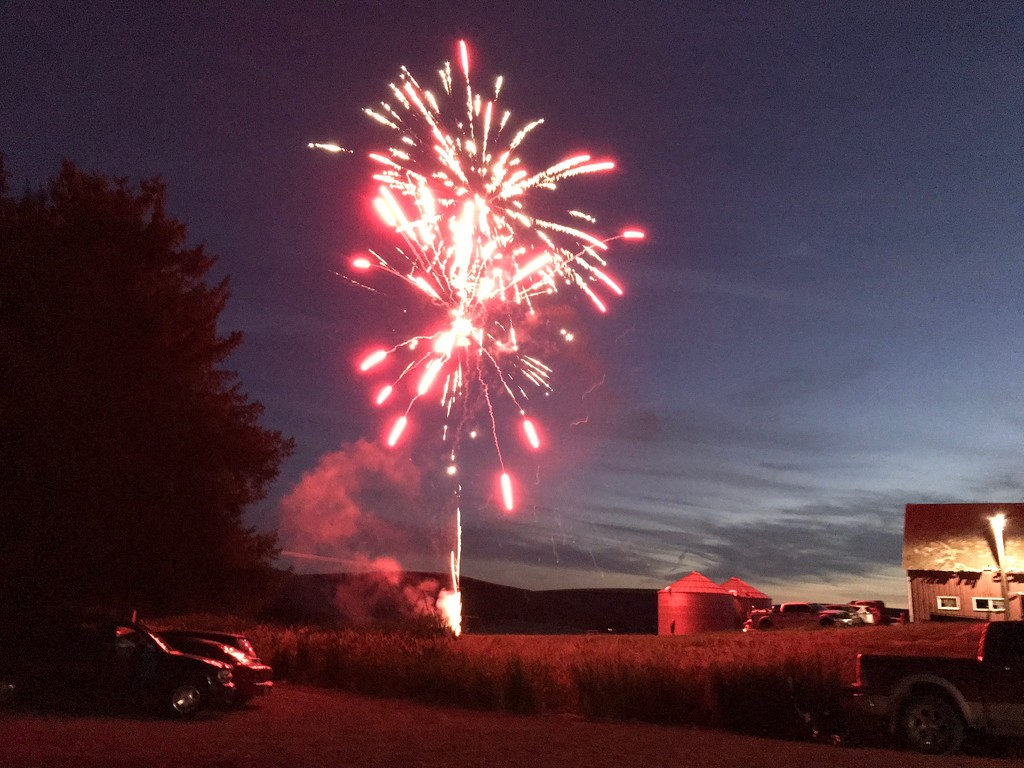 Fireworks at the Farm by marilyn