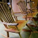 Locally made Rocking  Chairs  in a shop  Maleny