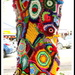 Colourful tree trunk  in Maleny for the Knitfest