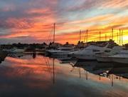 11th Jul 2018 - Sunset on boats.