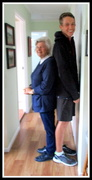 13th Jul 2018 - Was my 77th birthday today & I had my family come visit.  this is my youngest  Grandson & I comparing heights!!
